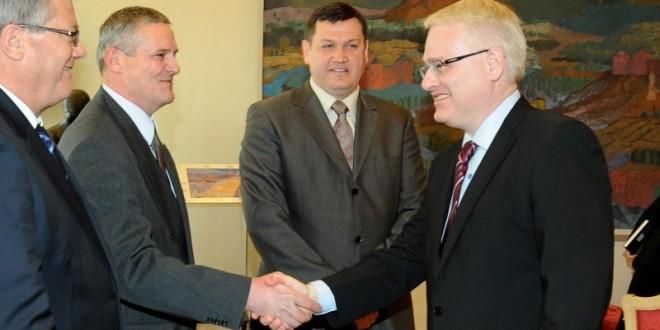 vinko kovačić i predsjednik Josipović