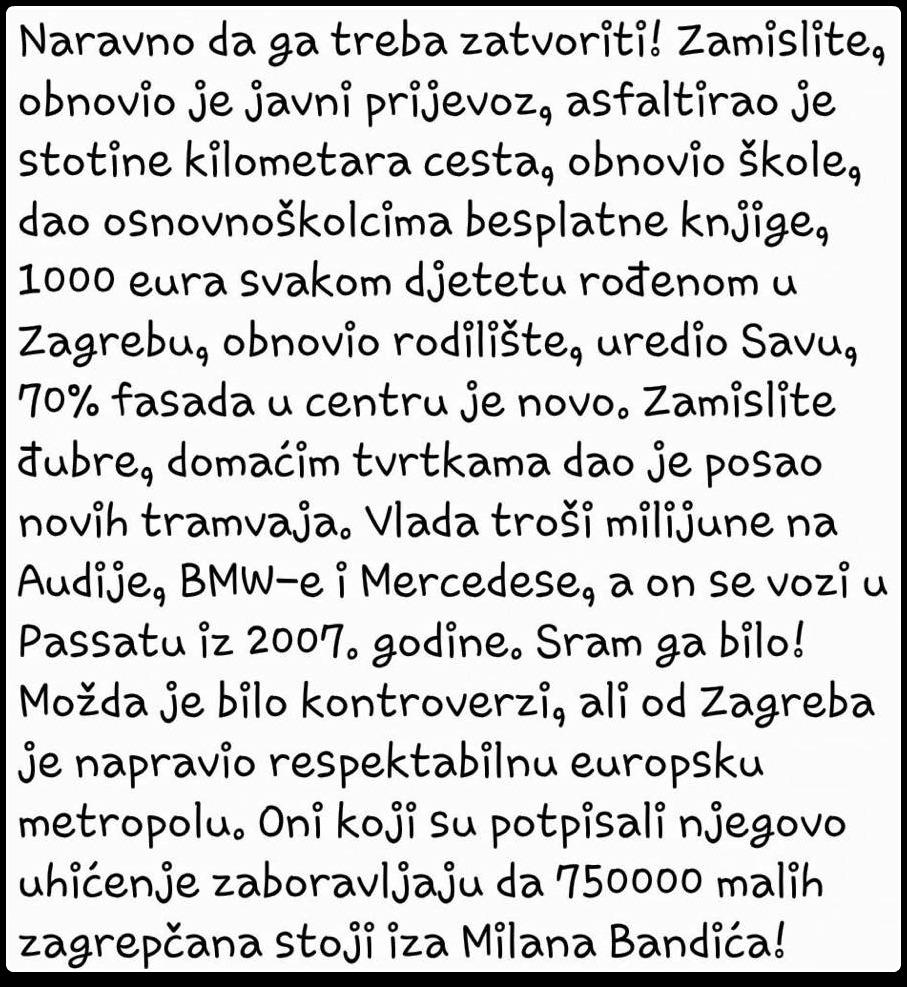 PODRŠKA BANDERASU
