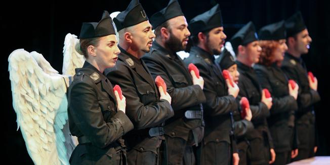 Rijeka, 18.11.2014 - Oliver Frljic i Marin Blazevic uoci premijere predstave Hrvatsko glumiste
