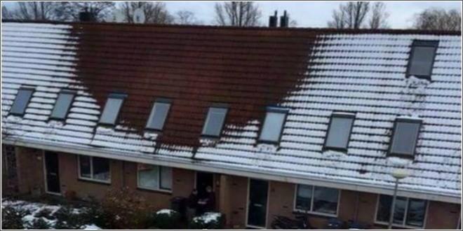 snijeg na krovu