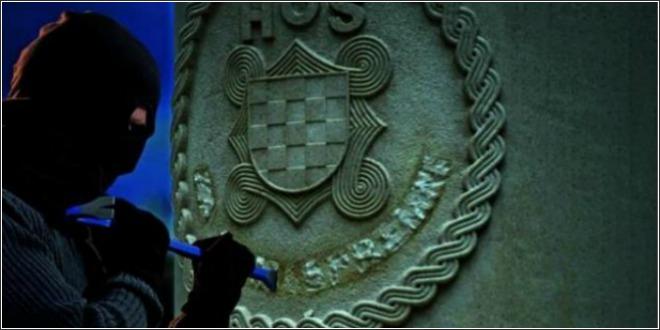Na Spomeniku Ix Bojne Hos A U Splitu Osvanuo Natpis Za Dom