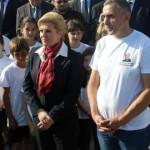 Predsjednica Kolinda Grabar Kitarović u Vukovaru 8. listopada 2014.