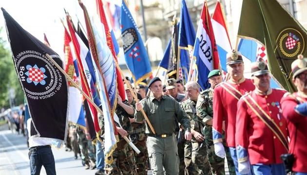 dan branitelja zagreba, zastava HOS-a