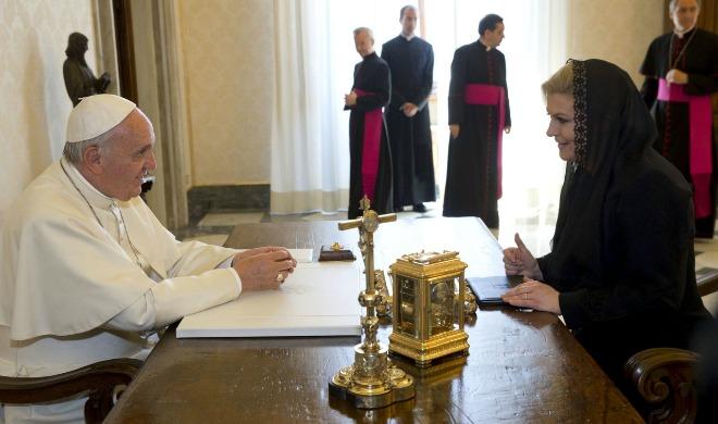 kolionda, papa franjo, razgovor