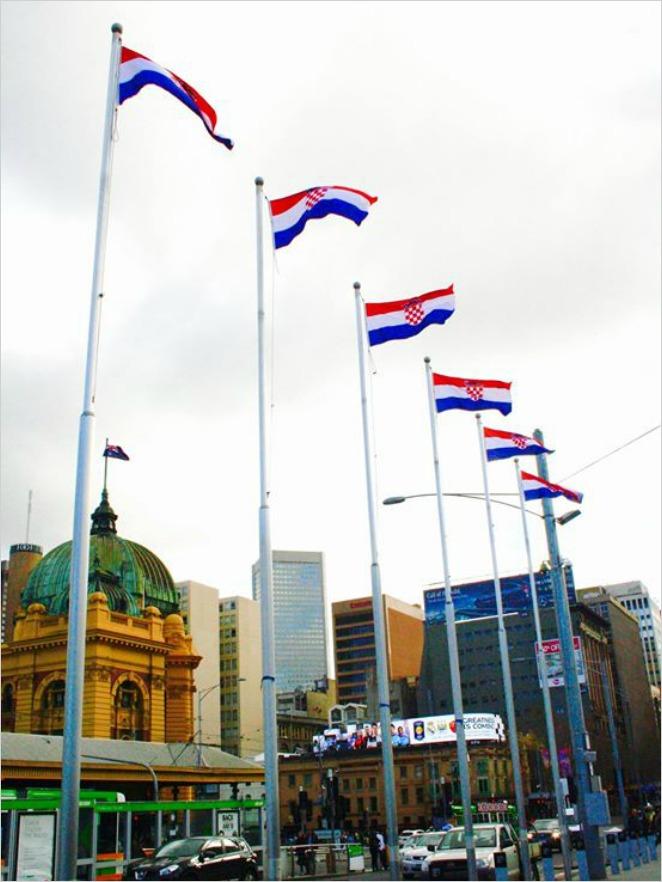 hrvatske zastave, melbourne 2