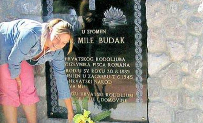 Mile Budak-SpomenPloča,