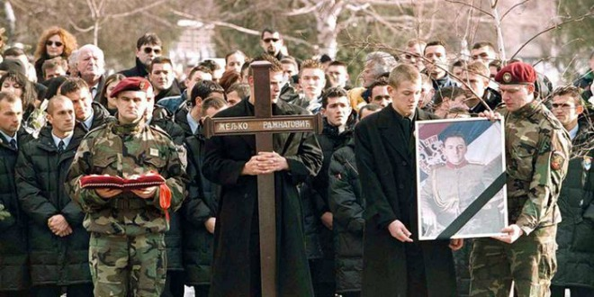 arkan, pogreb