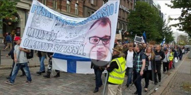 finska, prosvjed