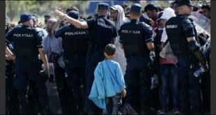 izbjeglice, policija