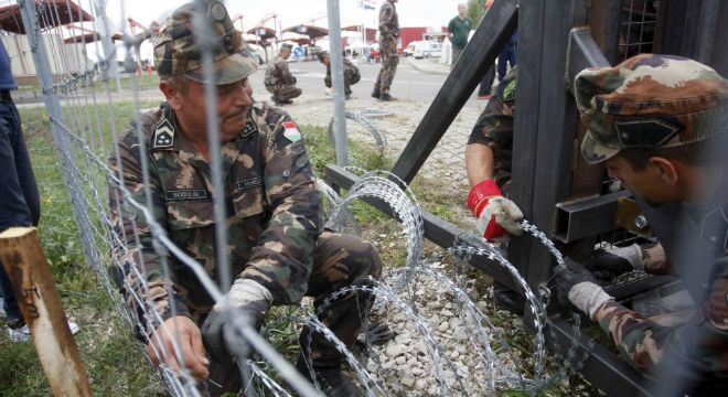 mađarska granica, žica