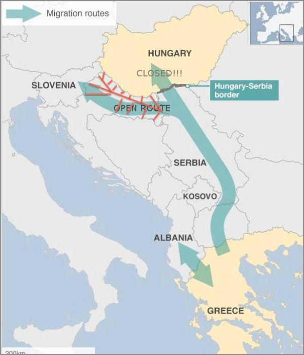 migracije,karta