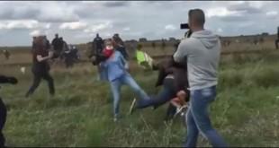 snimateljica tuče izbjeglice
