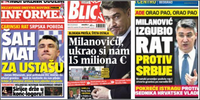 srpski mediji, milanović