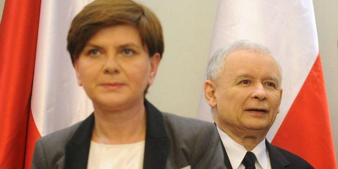 Beata Szydlo i Jaroslaw Kaczynski