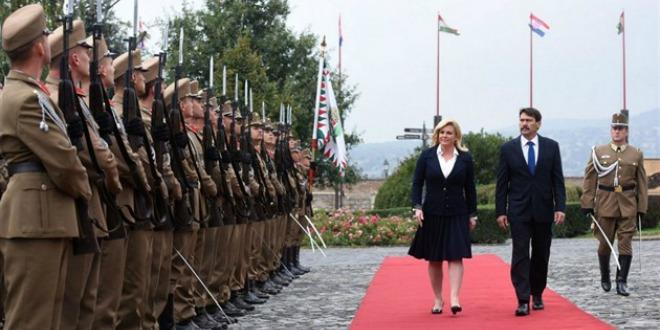 Kolinda Grabar Kitarović i Janos Ader