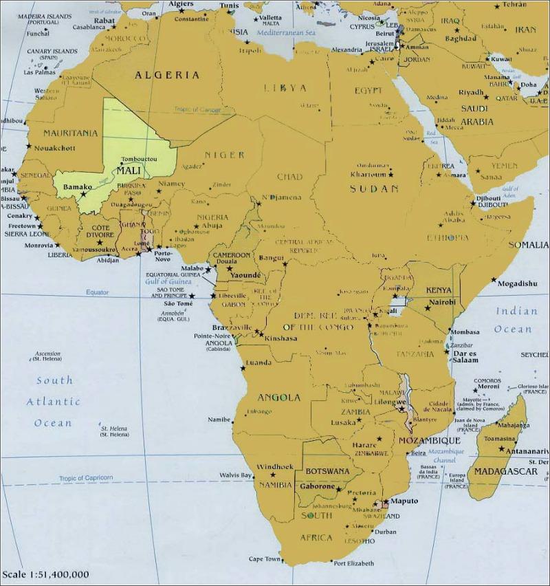 africa-map, mali