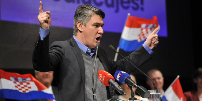 Zadar, 31.10.2015 - U gradskom HNK odrzan predizborni skup SDP-a i koalicijskih partnera