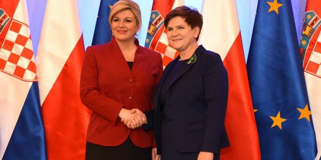 Grabar Kitarović s predsjednicom poljske Vlade Beatom Szydło