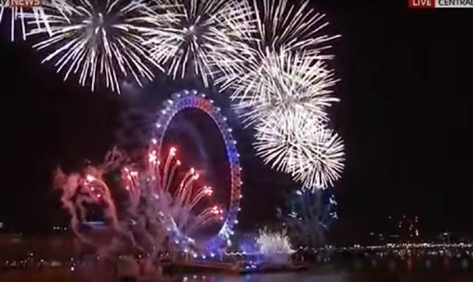 nova godina, london