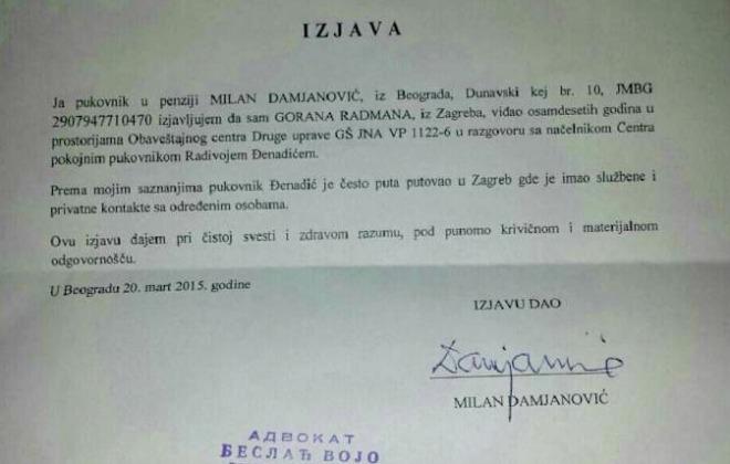 radman-kos, izjava puk, damjanović