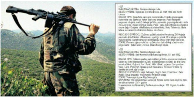 Hrvatski vojnik optužnice