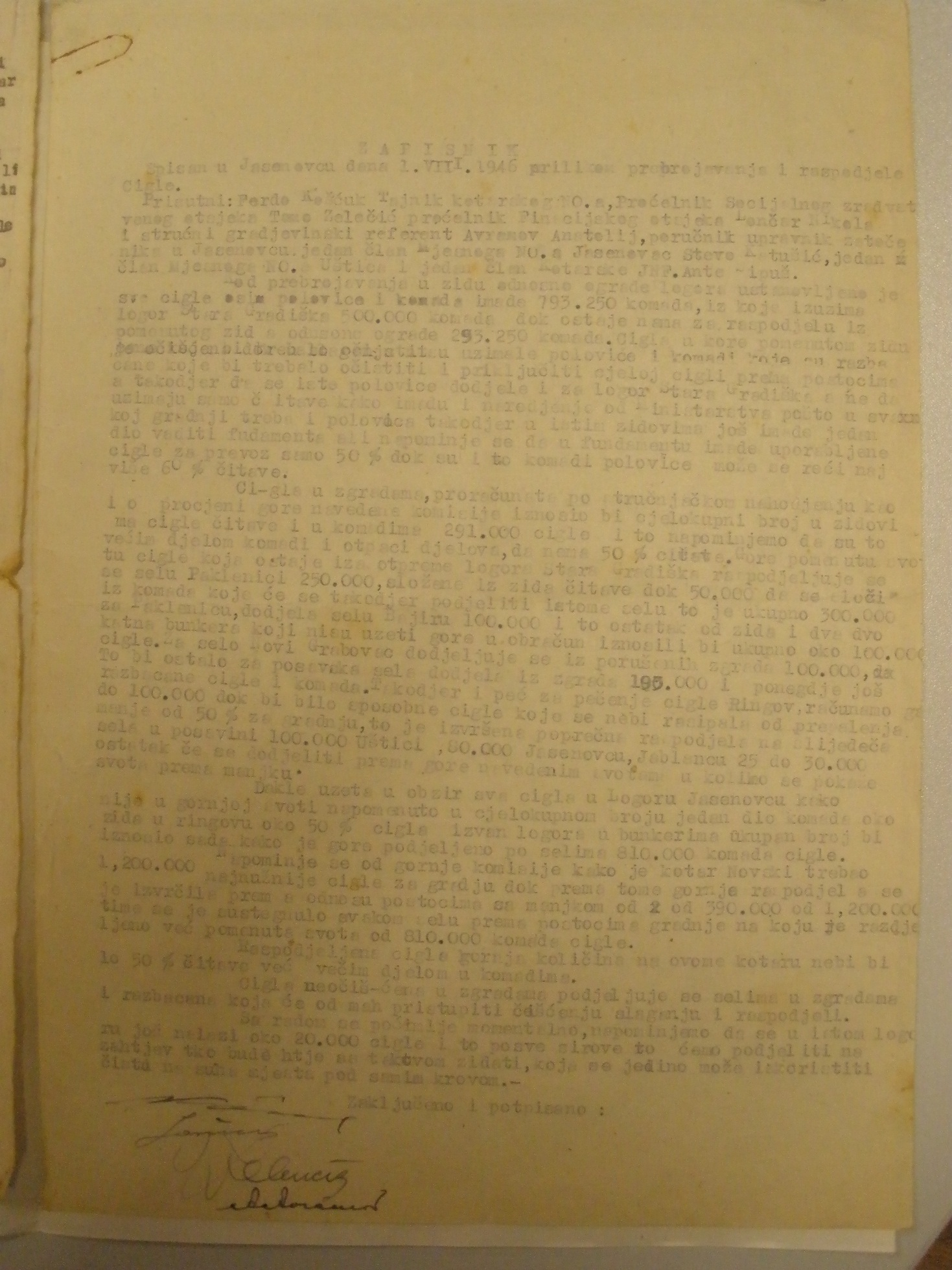 jasenovac, dokumenti