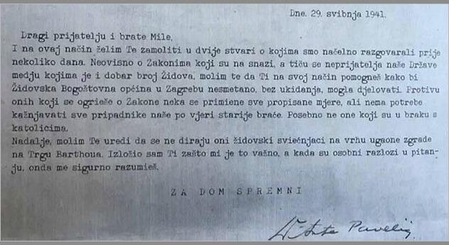 pavelić - pismo budaku