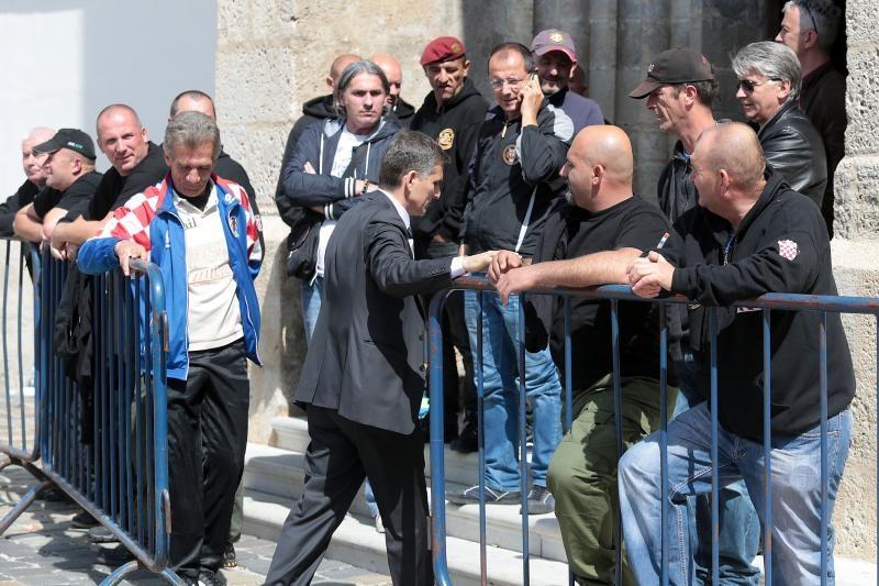 Goran Maric posjetio prosvjednike u Markovoj crkvi