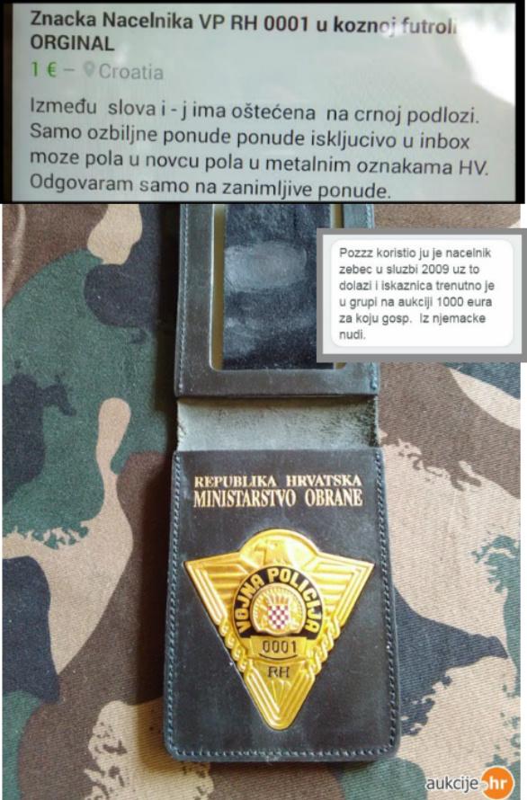 vojna polcija, značka, spojka