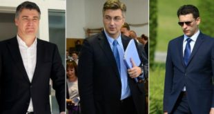 milanović, plenković, petrov.