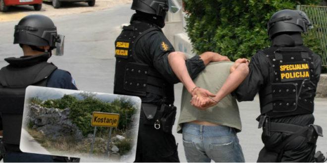 uhićenje, kostanje
