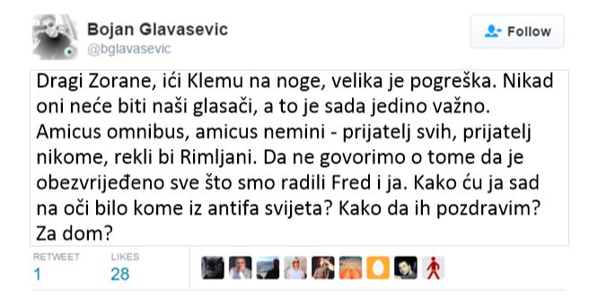 Bojan-Glavašević-twitao-pa-izbrisao-twit-protiv-Milanovića-24-8-2016-2-03-53