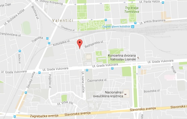mapa zagreba, bomba u Sutlanskoj