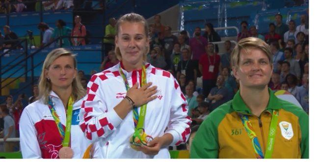 sara kolak, zlato, proglašenje, medalja, himna