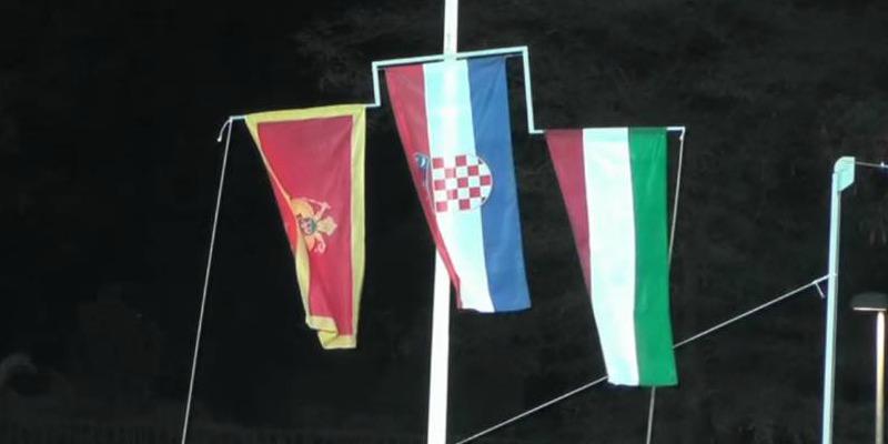 hrvatska zastava, zlatna medalja