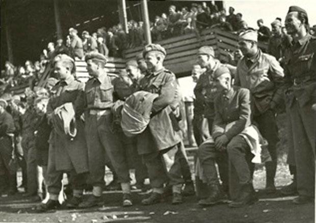 Britanci i partizani u Mariboru na prijateljskoj nogometnoj utakmici