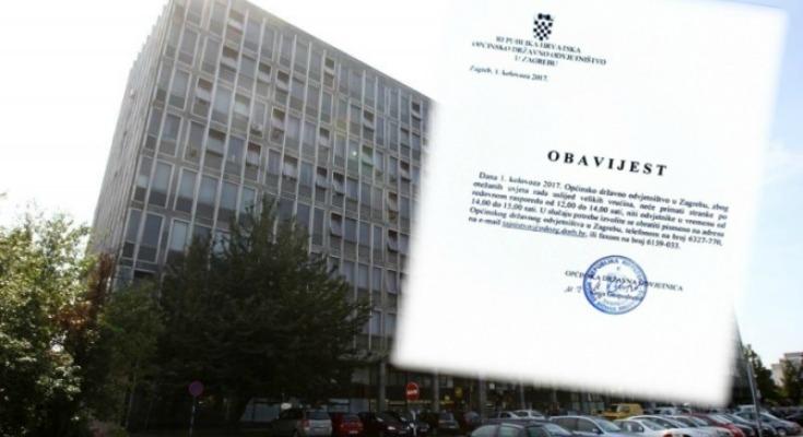 Drzavno Odvjetnistvo U Zagrebu Danas Ne Primamo Stranke Vruce