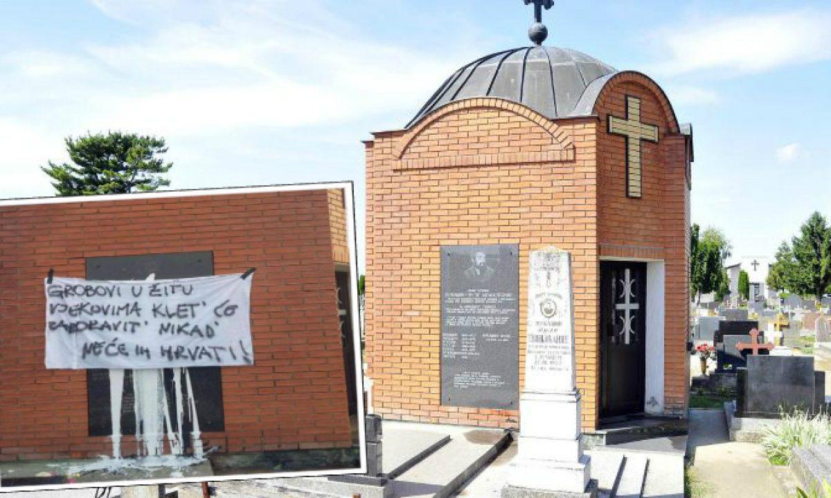 Spomenik Vukašinu Šoškočaninu u Borovu Selu zaliven bijelom bojom