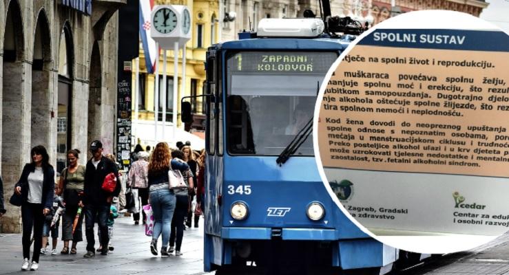 FOTO: Plakat o seksu u tramvaju izazvao silnu pažnju