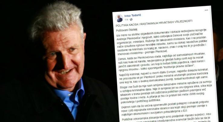 Ivica Todorić: Ovo je Plenkovićev kraj