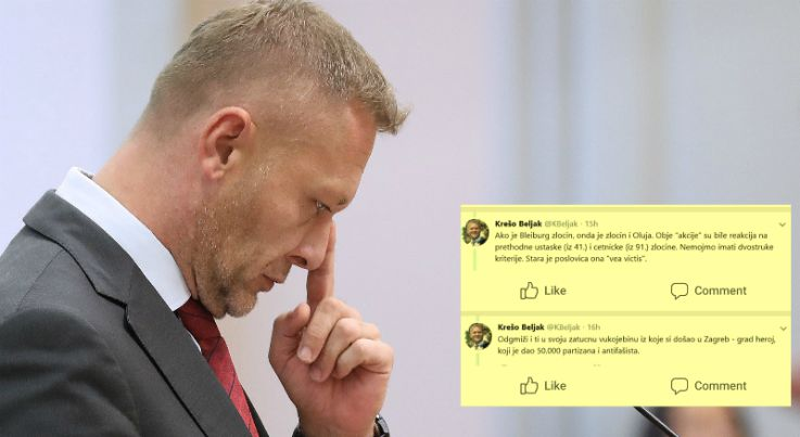 BELJAK: 'Ako je Bleiburg zločin, onda je i Oluja zločin' HRG: 'Beljaku treba medicinska pomoć'
