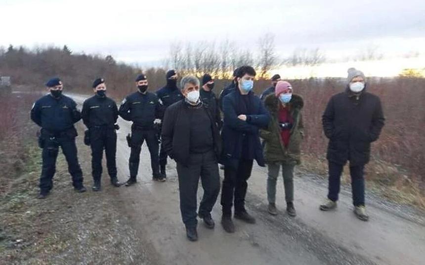 Hrvatska policija zaustavila je talijanske europarlamentarce/ Foto: Nello Scavo