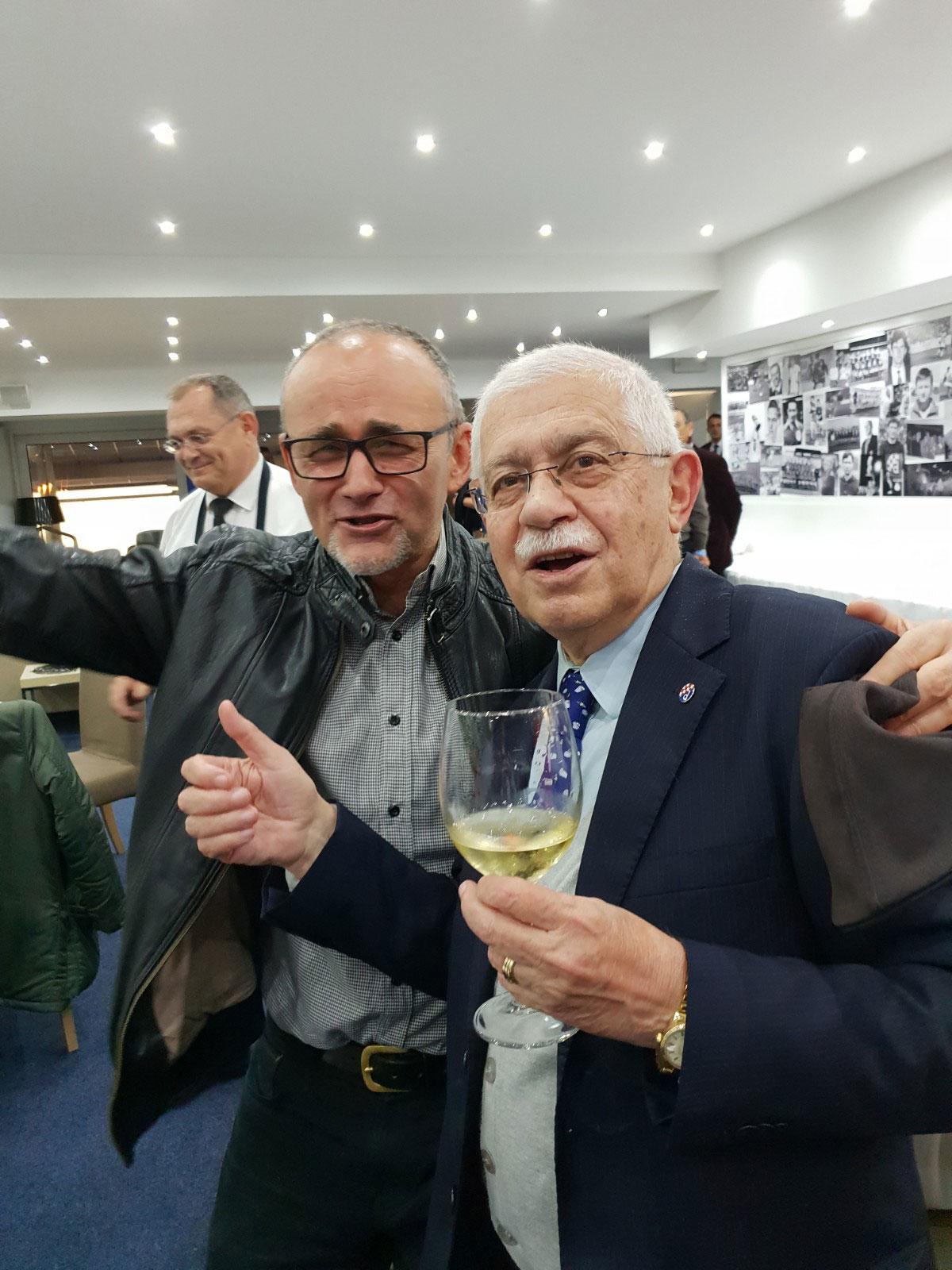 Darko Krušlin i Adolf Kožul u VIP loži Maksimira Jutarnji List