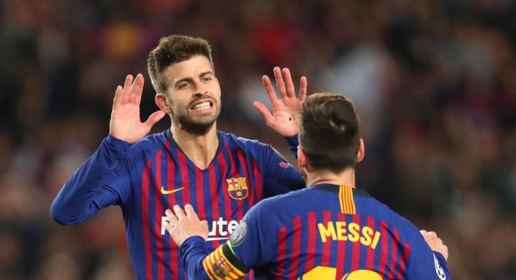 Gerard Pique i Lionel Messi Barcelona / Getty Images